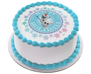 Frozen-olaf-cake
